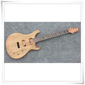 Sin terminar la guitarra cuerpo de caoba tapa acolchada del arce Soild cuerpo sin montar kits de la guitarra eléctrica