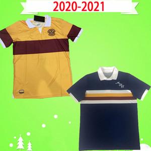 2020 2021 Soccer Jersey Motherwell 20 21 Ecosse Motherwell maison loin Donnelly A.Campbell football uniformes jaune bleu chemise
