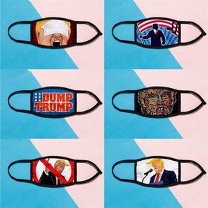 Пылезащитный Мода Многоразовые Mascarilla Защитная маска для лица Dump взрослых Рот Респиратор Trump дышащий Iced Шелковый Открытый 2 9qt B2