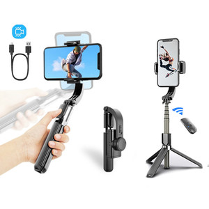 Bluetooth Handheld Gimbal Stabilizer Outdoor Holder Wireless Selfie Stick Adjustable Selfie Stand For phone IOS Androd L08