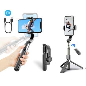 Bluetooth Handheld Gimbal Stabilizer Открытый Держатель Беспроводной Selfie Stick Регулируемый Селфи Подставка для телефона IOS Androd L08