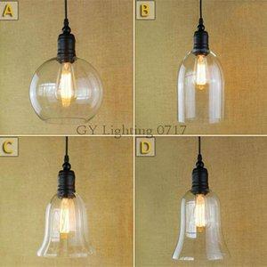Retro DIY Industrial de techo de luz de lámpara colgante de cristal Iluminación Decoración Accesorios Edison E27 110V -240V industrial colgando de iluminación