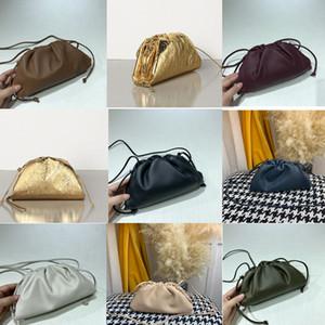 2020 Kadınlar kese içinde TEREYAĞ BUZAĞI Yumuşak Oversize Debriyaj derece de Yumuşacık Dana derisi tasarımcı lüks çanta çantalar Kadınlar Bulut Çanta