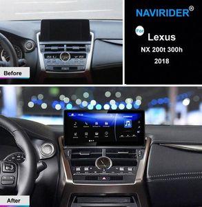 ستيريو الذكية Autoradio الروبوت سيارة الوسائط المتعددة راديو لNX 300H NX200 NX200T 2018 NX300H 200T 200 GPS للملاحة رئيس وحدة سيارة دي في دي دي في دي crTf #