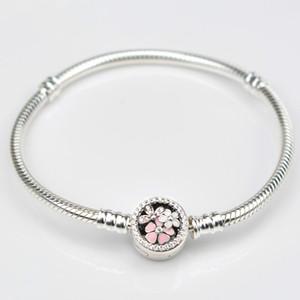 EDELL New 925 Sterling Silver Bracelet Fit Charm Pandorau Bracelets Silver 925 Original logo Bracelet For Women DIY Jewelry Making gifts1