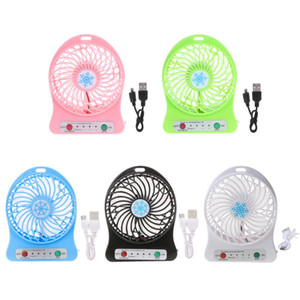 HOT SALE Portable LED Light Fan Air Cooler Mini Desk USB Fan Third Wind USB Y5LF