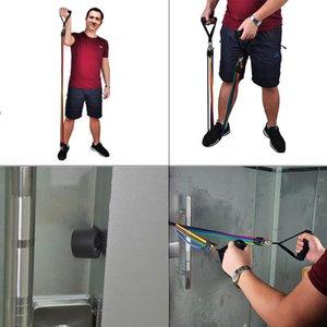11pcs / set Direnç Gruplar Spor Ekipmanları Çekme Halat 10-30LB Tüm Vücut Egzersiz Gruplar Yoga Eğitimi Egzersiz