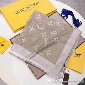 Concepteurs femme Foulard en soie Foulard carré luxurys Châle size180 * 70cm Hot Salesuper longue mode châle imprimé pour le printemps 6colors automne