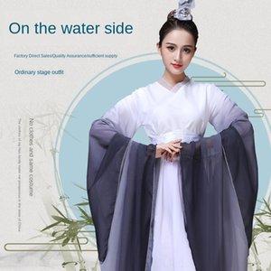 sREnX chinois et hanfu créatif performance scénique de télévision Vêtements Guzheng costume adulte guzheng style de film amélioré Costume
