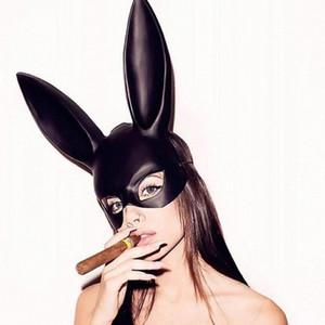 Cosplay conejo Rabbit Ears Marcos Pascua muchacha de las mujeres atractivas de la máscara de orejas de conejo larga esclavitud máscara del partido de la mascarada de Halloween cosplay Máscara Wjht #
