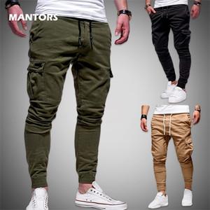 2020 Mens Pants Joggers Spring Summer Men Sweatpants Streetwear Hip Hop Cargo Pants Casual Solid Trousers Slim Fit Track Suit