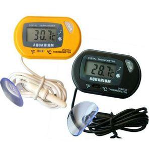 Waterproof LCD Digital Fish Tank Aquarium Reptile Thermometer Water Temperature Meter Plant Alive