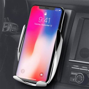 S5 Fast Wireless Charge Mount in Car Infsrared automatic ensor car wireless charger Compatible for iphone samsung All Qi Devices