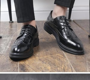 2020 Spring and Autumn with New style fashion flat bottom round head Men's shoes@OP22