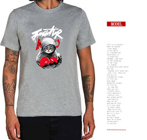 Hot Sale 2018 New Arrival Mens T Shirt Boxing Cat Cartoon T Shirt Summer 3D Printed Short Sleeve Tees 12 Colors Unisex