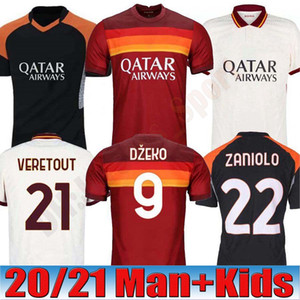 2020 AS 데 로시 ROMA 제코 ZANIOLO 축구 유니폼 (20) (21) 로마의 토티, PEROTTI 콜라 로프 축구 셔츠 세트 2021 남자 아이 키트 유니폼