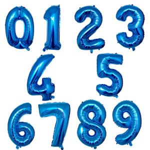 32 дюймов розового золота серебряная фольга Количество шаров Birthday Party Decor Air Гелий Номер Globos Kid Baloons День рождения балон