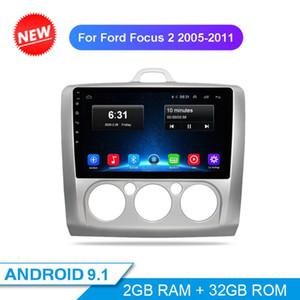 Автомобиль Audio 2din Android 9.1 Радиосекрео для фокусировки 2 2004-2011 Мультимедийный видеоплеер Навигация GPS WiFi BT 2G + 32G