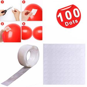 100 Очки Balloon Клей Dot Attachment Присоединить шары клей наклейки Свадьба День Рождения DIY шар декора стены принадлежности