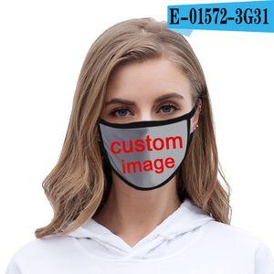 DIY özel resim logosu yetişkin çocuk Maske yüz Ağız burun koruma pamuk maskeleri yıkanabilir moda Anti-toz maskeleri toz geçirmez, yeniden kullanılabilir