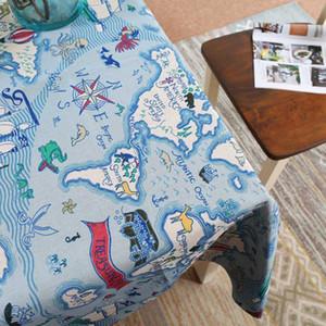 Mediterraneo Viaggi Style cucina partito biancheria in cotone tovaglia tessili per la casa tavolo da pranzo copertura rettangolare tovaglia