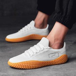Casual Shoes scarpe comode Uomo Pure Color Volante lavorato a maglia di sport degli uomini Low-cut Assorbimento correnti di sport