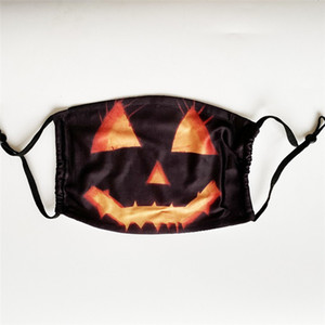 Hot 10 Styles Adjustable Halloween Pumpkin Party Skull Joker Face Mouth Masks with Filters for Adults & Children DHL Free Shipping