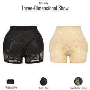 Senhorita Moly Invisible Bundas Lifter Booty Hip Enhancer Corpo Shaper Padding Panty Push Up inferior Mulher Shapewear Modeling Calcinhas 200922