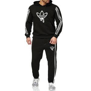 2020 neue Paar Sportbekleidung Brief Blattdruck Sportkleidung Männer und Frauen verfolgen Jackenklage Luxus Sportswear Jacke Männer Pullover
