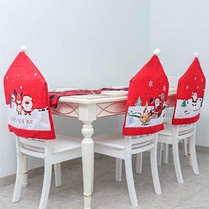 Chair Covers Protector assento Slipcovers Decoração de Natal cadeira Back Cover Festival Prop para Party Supplies Ano Novo