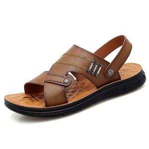 Mens Vietnam Em Comfort Outdoor Plage Sandalhas Footwear Slippers Men Masculino Shoe Leather Sandalen Para Breathable De