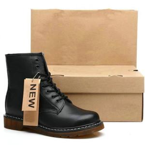 Coppia Stivali invernali Uomini Martens Stivali da uomo in vera pelle Stivaletti Stivaletti Punk Moto Scarpe maschili Thick Shoes Shoes Shoes Shoes