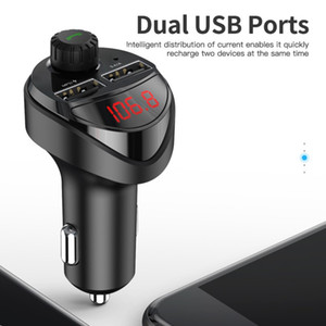 Bluetooth Car Audio MP3 Player Car Charge FM Transmitter Kit 3.4A Dual USB Phone Charging