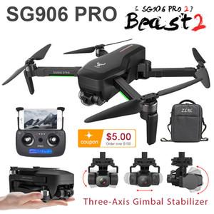 SG906 GPS Drone 4K 5G WIFI leva SG906 Pro Pro2 de doble cámara de aviones no tripulados profissional 2 3 eje estabilizador de cámara Quadrocopter Dron LJ200908