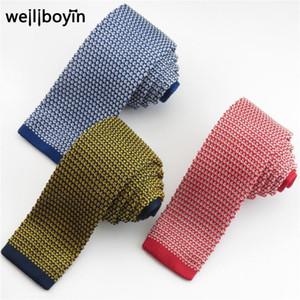 Cuelgos de cuello a rayas de punto para hombres, azul marino, corbata azul delgada, traje de boda de hombre, camisa de vestir, accesorios, accesorios, cravado, gravata