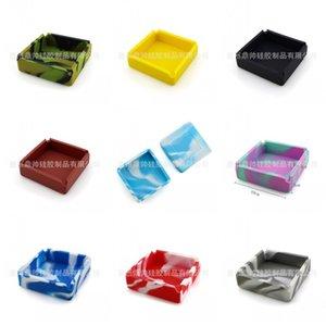Marble Lines Ash Tray Food Grade Materiale Softly caduta Prevenzione Posacenere 10x10x3 Cm elastici Ashtraies puro e Camouflage Colori 5 8DS C2