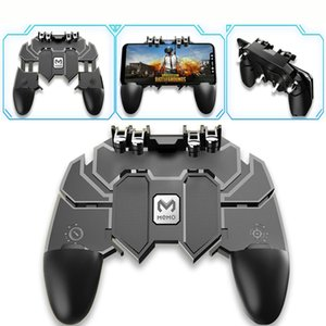 New Latest Six Finger All-in-One PUBG Mobile Controller Mobile Game Controller Shooter Trigger Gamepad Game Accessories