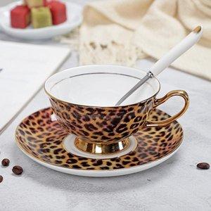 Taza de té Vasos Copas Yefine Yefine Grado Bone Porcelana Porcelana platillos de café turco China Alta set y kGfJF lg2010