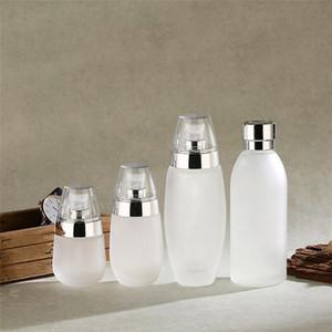 30 ml 50 ml 100 ml Flacon en verre givré crème rechargées cruches vides cosmétiques Contenants Bouteilles Portable Lotion pour pompe Voyage HHD1561