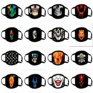 Maske Wit Fliter adjustale Elastic Earloops Fa Printing Masken Baumwolle Muster drucken Clot Fa Mask # 683