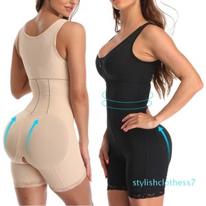 Fajas Colombiana reductora Mulheres Overbust alta compressão completa bodyshapers Tummy Controle pós-parto Recuperação Slimming Body Shaper S-6XL s07