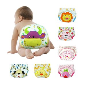 Cute Baby Kids Diapers Reusable Nappies Cloth Diaper Pant Washable Adjustable Infant Children Pure Cotton Training Panties Nappy