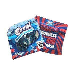Yeni Geliş 500mg Errlli GUMMI KÖPEKBALIKLARI Ekşi Terp tarayıcılar Maylar çanta Dankest Gummi Solucan'ın 600mg mylar çanta Skittles Packaging kanıtı Berry kokla