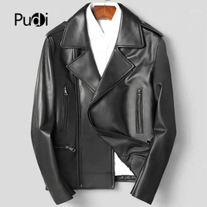 Pudi MT930 New fashion mens jackets and coats Short leisure genuine sheepskin leather jackets real leather outwear1