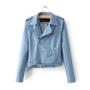 2019 Lika Rulla New Spring Fashion Good Quality Ladies Basic Street Women Short PU Leather Jacket T5190612