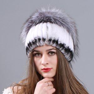Шапочки / черепные колпачки Miara.l выдра меховой леди шляпа ручной работы утолщенной зимней теплым производителем оптом еноты шляпы