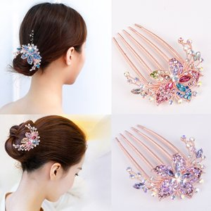 Korean Crystal Hair Comb Adult Hair Comb Women's Hairpin up-Do Artifact Hairpin Back Head Hairpin Hair Clip Headdress
