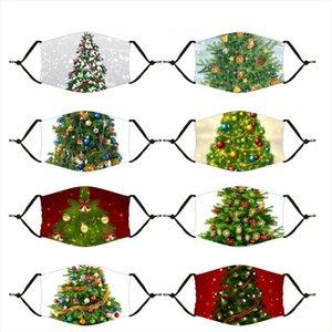 Nouveau Masques Noël Arbres de Noël Éléments de mode Impression numérique Out antipoussière PM2.5 Masques Masques avec filtre lavable