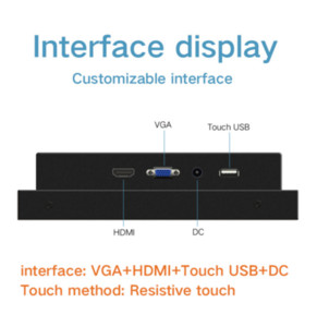 OEM Services 10 Inch IP65 Industry Touchscreen Panel Outdoor Monitor
