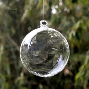 Diameter=12cm Middle Size Christmas Ball Transparent Glass Globe Hotel School Window Wedding Decoration Glass Ball Christmas Day